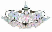 Oaks Lighting Abeba Antique Brass/ Pearl Acrylic Flowers Pendant Shade, 38 cm