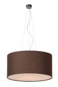 Lucide 61452/40/43 Coral Suspension Light Shade Cotton E27 40 cm Brown