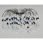 Lightmode Fountain Drop Acrylic Droplets with Black Nickel Frame Ceiling Light Lampshade Clear and Black LMB006