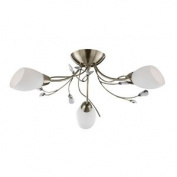 Gardenia Antique Brass Finish 3-Light Fitting, 1763-3AB