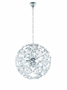 Trio 309200406 Pendant Light 4 x E14 max. 40 W Diameter 46 cm Chrome Finish