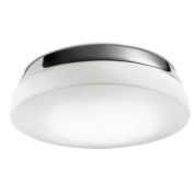 Leds C4 Indoor Lighting Chrome Ceiling and Wall Fixture Dec with Matt Opal Glass