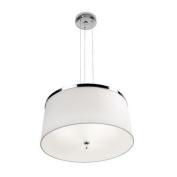 Leds C4 Indoor Lighting Leila Aluminium with Chrome Pendant, White