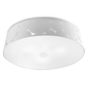 Leds C4 Indoor Lighting Trama Big Ceiling Fixture, White