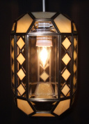 Lighting Web Co Glass Small Bevelled Lanterns, Clear/ Beige