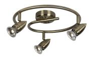 Lucide Caro 13955/33/03 Spotlights on a Wavy Bar Diameter 31 cm 3 x GU10 50 W Bronze