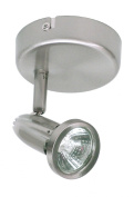 Ranex Innovatore BYRRX2680 Surface Mounted Brushed Steel Spotlight, 105 x 205 x 105mm, GU10/50W Bulbs Included