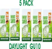 9 Watt Daylight GU10 Five Pack (Five Bulbs) Equiv 40 Watt