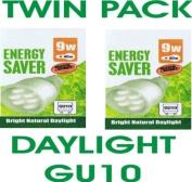 9 Watt Daylight GU10 Twin Pack (Two Bulbs) Equiv 40 Watt