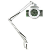 Unilux Zoom Magnifying Lamp 3 Diopters Arm L1000mm Shade Diam200mm 22W Ref 270E10UK