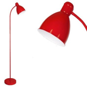 Modern Gloss Red Adjustable Reading/Craft Floor Lamp