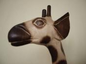 Lights4less -100cm Floor Standing Hancarved Wooden Wood Giraffe