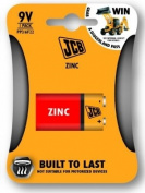 Battery: 9V: JCB Zinc