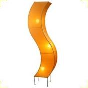 Silk 'S' Shaped Floor Lamp