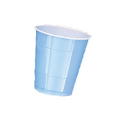 Amscan International 355 ml Cup Plastic, Powder Blue