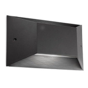 Pasteur Wall Light with Polycarbonate Diffuser in Urban Grey