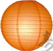 2.5cm x 30cm Orange Even Round Paper Lantern