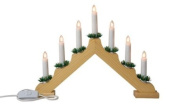 Snow White Pine Christmas Candle Bridge with 7 Candle Lights