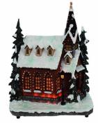 Brite Ideas Festive 28 cm Fibre Optic Village Church Scene