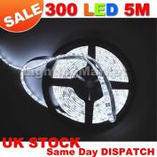 Day White 5M (16.4ft) 300 LED Strip Light Flexible TAPE RIBBON/ 5 Metres with 300 SMD LEDs DC 12V-- IDEAL FOR KITCHENS, HOME LED LIGHTING, BARS, RESTAURANTS, ETC .