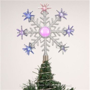 The Benross Christmas Workshop Battery Operated LED Snowflake Christmas Tree Topper Light