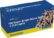 Brite Ideas Festive 100 Multiaction LED Lights, Warm White