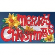 The Benross Christmas Workshop LED Merry Christmas Metallic Silhouette Light
