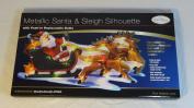 The Benross Christmas Workshop LED Santa on Sleigh Metallic Silhouette Light