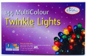 The Benross Christmas Workshop 144 Twinkle Chaser Lights, Clear