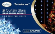 The Benross Christmas Workshop 24 LED Star Curtain Lights, Blue
