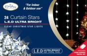 The Benross Christmas Workshop 24 LED Star Curtain Lights, White