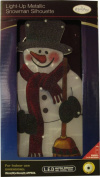 The Benross Christmas Workshop LED Snowman Metallic Silhouette Light