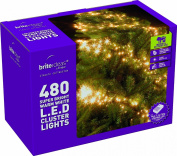 Festive 480 LED Cluster Lights with 8 Multifunction Action and Memory Chip, Warm White