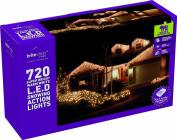 Festive 720 LED Snowing Icicle Lights, Warm White