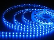 Blue 5M (16.4ft) 300 LED Strip Light Flexible TAPE RIBBON/ 5 Metres with 300 SMD LEDs DC 12V-- IDEAL FOR KITCHENS, HOME LED LIGHTING, BARS, RESTAURANTS, ETC .