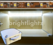 12v LED STRIP LIGHT SET IN COOL WHITE WITH SWITCH AND 12V SUPPLY / TRANSFORMER ** EXCELLENT PACKAGE FOR LIGHTING UP WARDROBES, CUPBOARDS, KITCHENS, DRAWERS, AWKWARD AREAS, ETC **
