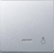 Merten 430960 Rocker with control lamp and Light imprint, aluminium, System M