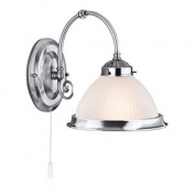 American Diner Satin Silver Switched Wall Lights, 1041-1