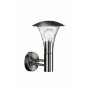Beaumont One Light Outdoor Wall Lantern in Stainless Steel