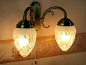 Art Nouveau Style Twin Lamp Wall Light Bronze 8632n