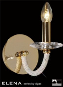 Elena Wall Lamp 1 Light Gold Plate