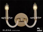 Elena Wall Lamp 2 Light Gold Plate