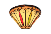 Felice Stained Glass Tiffany Style Wall Light
