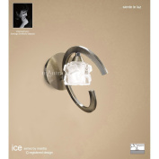 Ice Switched Wall Light 1 Light Antique Brass