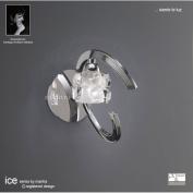 Ice Switched Wall Light 1 Light Polished Chrome