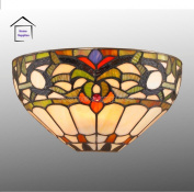 IVY Stained Glass Tiffany Style Wall Light