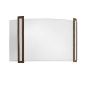 Leds C4 Indoor Lighting Lugo Chrome and Satin Glass Wall Fixture