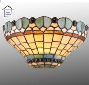 Peacock Stained Glass Tiffany Wall Light
