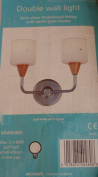 RETRO DOUBLE WALL LIGHT WITH GLASS SHADES