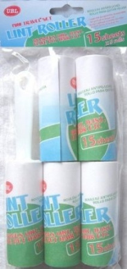 LINT ROLLER 5 REFILLS FLUFF HAIR REMOVER REMOVAL